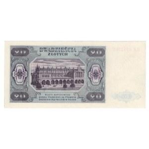 20 złotych 1948 - seria HM