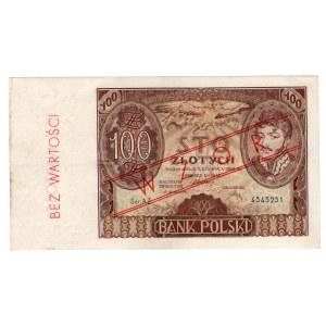 100 złotych 1932- seria AZ - fałszywy nadruk WZÓR
