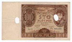100 złotych 1934 - seria CG. Skasowany