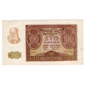 100 złotych 1940 - seria E