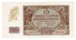 10 złotych 1940 - seria J.