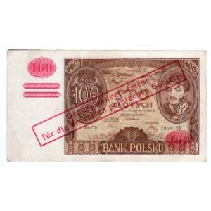 100 złotych 1934 - seria CD.- przedruk okupacyjny