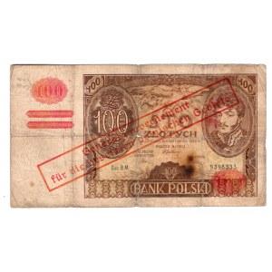 100 złotych 1934 - seria BM.- przedruk okupacyjny
