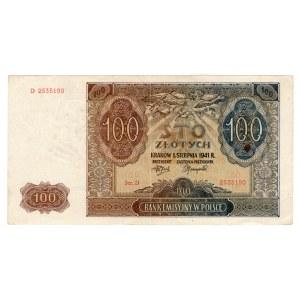 DESTRUKT - 100 złotych 1941 - seria D