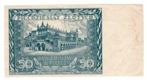 50 złotych 1940 - nie dodruk tylko rewers
