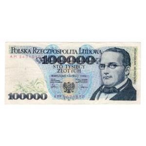 FALSYFIKAT 100.000 złotych 1990 - seria AM .