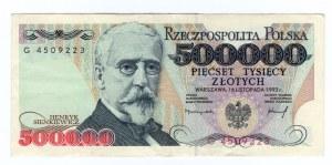 500.000 złotych 1993 - seria G