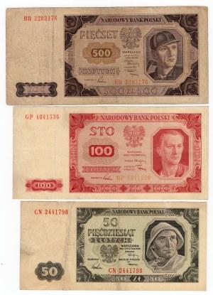 SET 500+ 100+ 50+ 20+ 10+ 5 zł - 1948r MIX serii