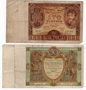 SET 50 zł- 1929r/ 100 zł 1932r MIX serii