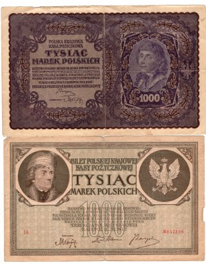 SET 1.000 marek 1919 seria IA / 1.000 marek 1919 IIserja BZ/
