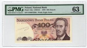 100 złotych 1979 - seria GS - PMG 63 podpis Andrzej Heidrich 1980r