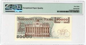 50 000 złotych 1989 - seria AC - PMG 68 EPQ