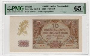10 złotych 1940 - seria L. - PMG 65 EPQ