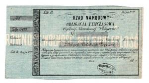 Rząd Narodowy, Obligacja Tymczasowa 500 złotych 186..r
