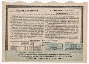 6% pożyczka konwersyjna m. st. Warszawy 1930 - obligacja 142 złotych