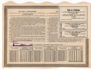 6% pożyczka konwersyjna m. st. Warszawy 1926 - obligacja 500 złotych