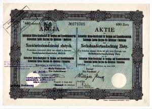 Katowickiej S.A. dla Górnictwa i Hutnictwa - 680 złotych 1929