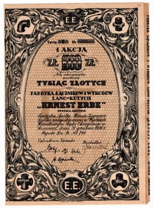 Fabryka Łączników i Wyrobów Lano-Kutych ERNEST ERBE S.A. Zawiercie - 1000 złotych 1936