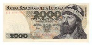 2.000 złotych 1982 - seria BZ