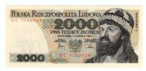 2.000 złotych 1982 - seria CC.