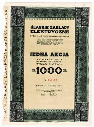 Śląskie Zakłady Elektryczne S.A. w Katowicach - 1000 złotych 1939