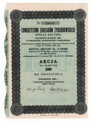 Towarzystwo Zakładów Żyrardowskich - 1 x 100 złotych 1930