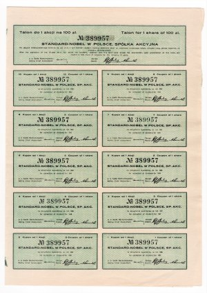 STANDARD NOBEL w Polsce S.A. - Em. V - 100 złotych 1936