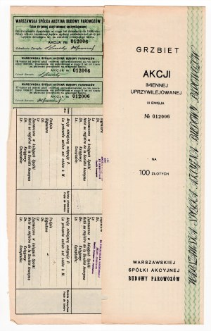 Warszawska Spółka Budowy Parowozów - Em.3, 100 zł