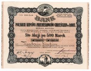 Bank Polskich Kupców i Przemysłowców Chrześcijan w Łodzi - imienna - Em.5, 100 x 500 marek 1923