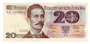 20 złotych 1982 - seria AD