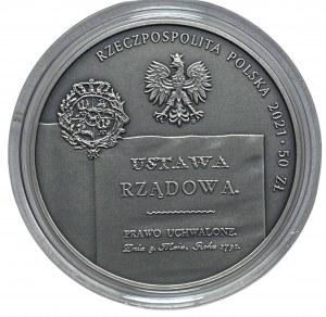 50 złotych 2021 - 230. rocznica Konstytucji 3 Maja