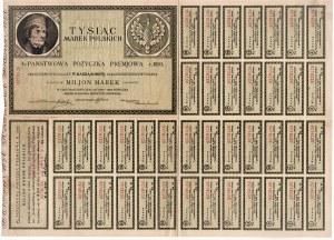 4% państwowa pożyczka premiowa roku 1920 na 1.000 marek polskich