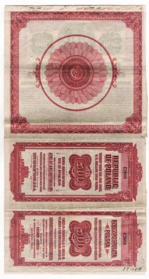 6% pożyczka dolarowa 1920 - obligacja na 500 $ po konwersji