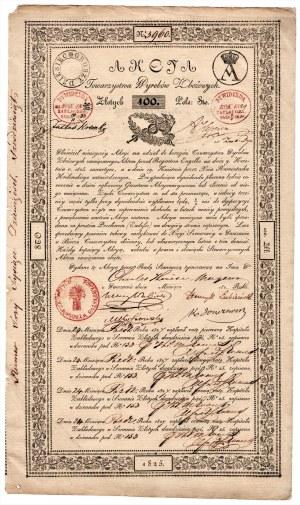 Towarzystwo Wyrobów Zbożowych - 100 złotych 1825