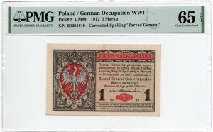 1 marka 1917 - Generał - PMG 65 EPQ