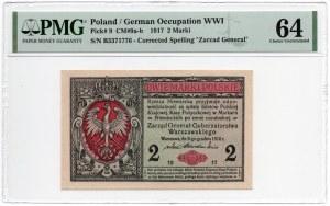 2 marki 1917 Generał - PMG 64