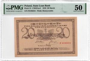 1 Marka 1919 - seria PG - PMG 65 EPQ