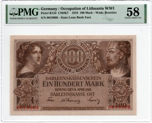 KOWNO - 100 Marek 1918 - PMG 58