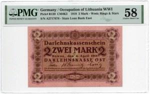 Kowno, 2 marki 1918 - seria A - PMG 58
