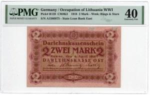 Kowno, 2 marki 1918 - seria A - PMG 40