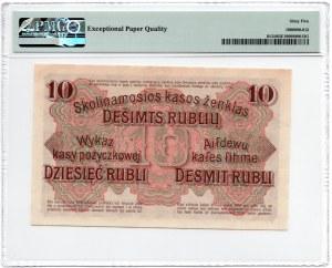 POSEN/POZNAŃ - 10 rubli 1916 - seria E- PMG 65 EPQ