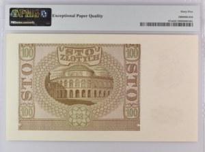 100 złotych 1940 - seria B fałszerstwo ZWZ - PMG 65 EPQ