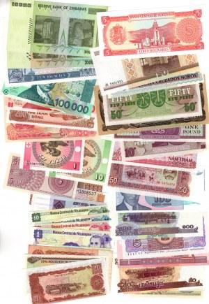 SET 37 sztuk Banknoty Świat