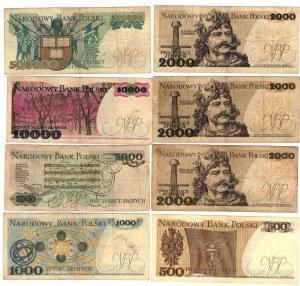 SET 8 sztuk PRL Banknoty MIX .