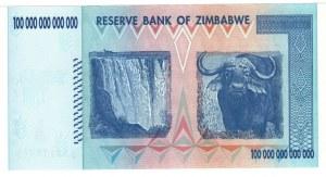 Zimbabwe, 100 bilionów dolarów 2008 - seria AA