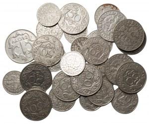II RP - Zestaw 28 sztuk - 10,20,50 groszy 1923 oraz 1 złoty 1929
