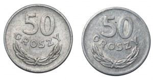 PRL - 2 x 50 groszy 1957