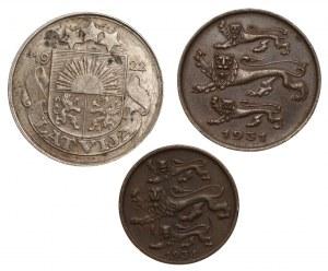 Litwa, Estonia - 50 santimu 1922 oraz 2 i 5 senti 1931-1934
