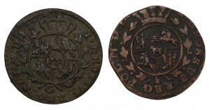 Stanisław August Poniatowski - 2 x Grosz 1767 i 1768