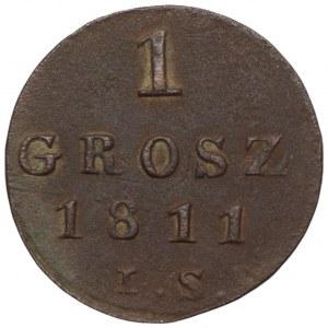 Księstwo Warszawskie - 1 grosz 1811 I.S. - Warszawa